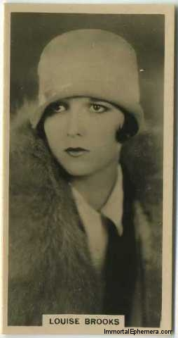 Louise Brooks 1929 Carreras Paramount Stars tobacco card