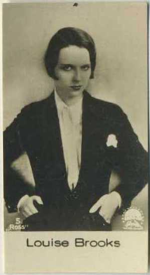 Louise Brooks early 1930s De Beukelaer Film Stars Trading Card