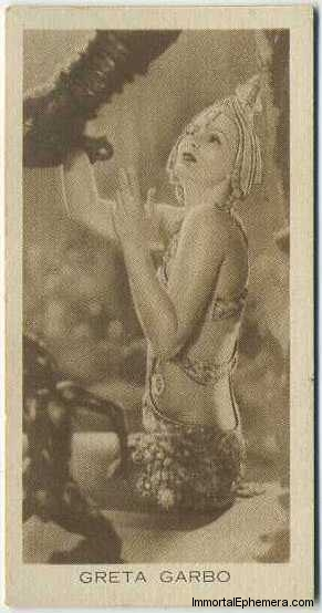 Greta Garbo circa 1931 BAT Cinema Artistes Tobacco Card