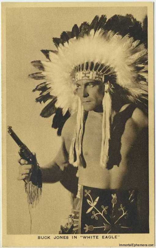 Buck Jones circa 1932 Boys Cinema 3.5 X 5.5 Trading Card #1