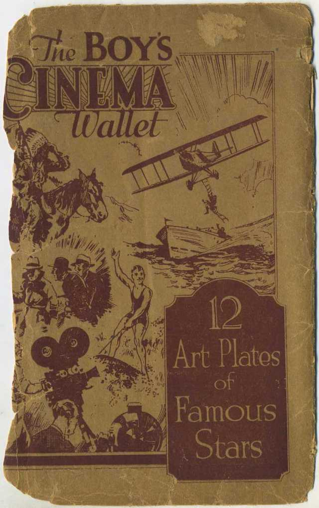 Circa 1932 Boys Cinema Trading Card Wallet