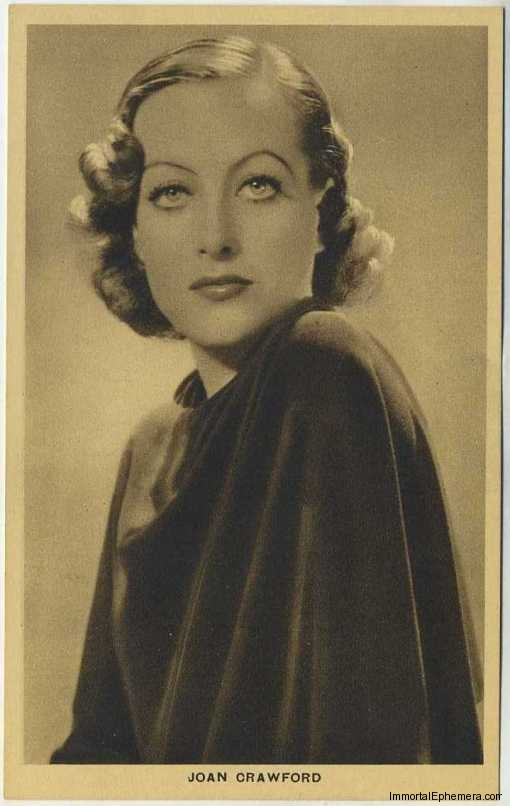 Joan Crawford circa 1932 Boys Cinema 3.5 X 5.5 Trading Card #5