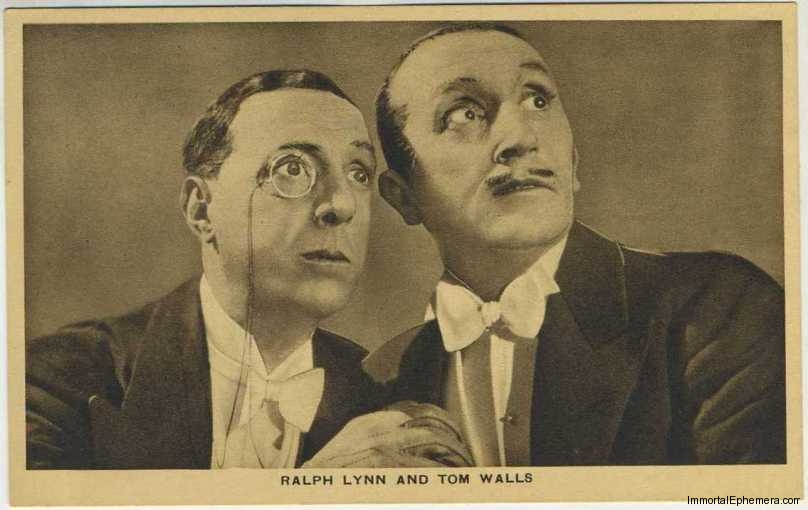 Tom Walls and Ralph Lynn circa 1932 Boys Cinema 3.5 X 5.5 Trading Card #4