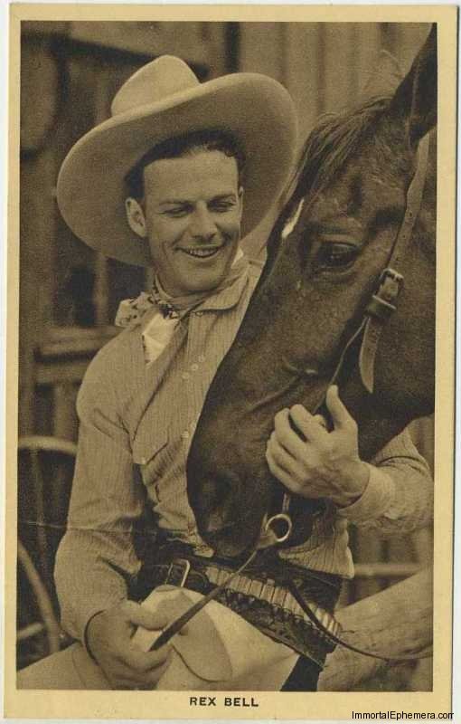 Rex Bell circa 1932 Boys Cinema 3.5 X 5.5 Trading Card
