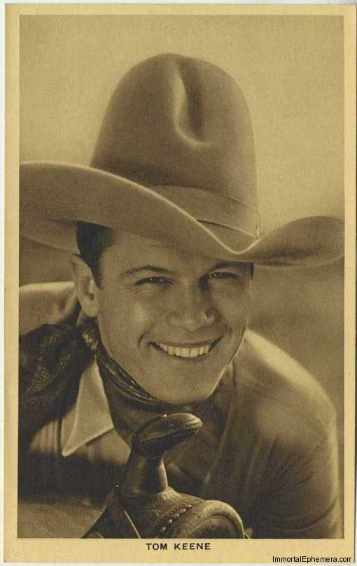 Tom Keene circa 1932 Boys Cinema 3.5 X 5.5 Trading Card #12