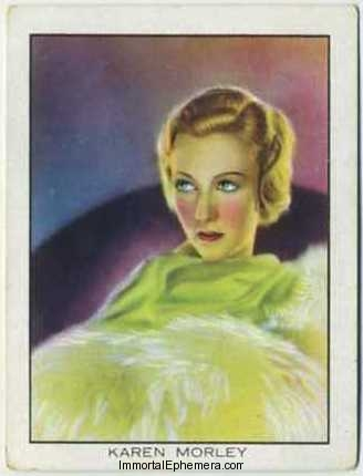 Karen Morley 1933 BAT World Famous Cinema Artistes Tobacco Card