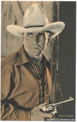 Buck Jones circa 1933 Boys Cinema 3.5 X 5.5 Trading Card
