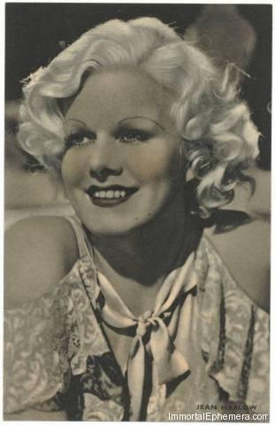 Jean Harlow circa 1933 Boys Cinema 3.5 X 5.5 Trading Card