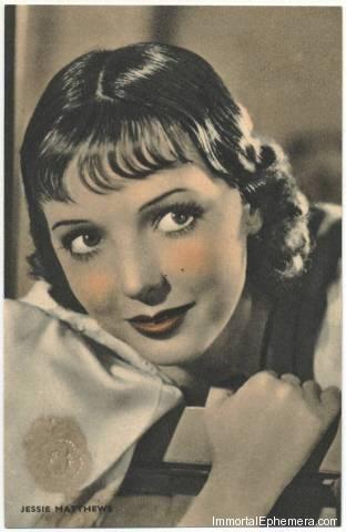 Jessie Matthews circa 1933 Boys Cinema 3.5 X 5.5 Trading Card