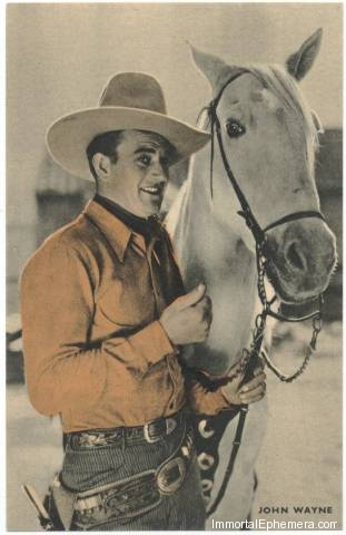 John Wayne circa 1933 Boys Cinema 3.5 X 5.5 Trading Card