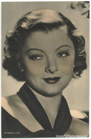 Myrna Loy circa 1933 Boys Cinema 3.5 X 5.5 Trading Card