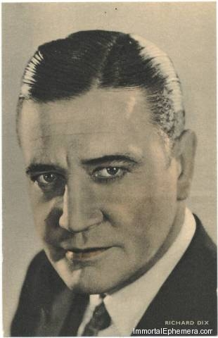 Richard Dix circa 1933 Boys Cinema 3.5 X 5.5 Trading Card