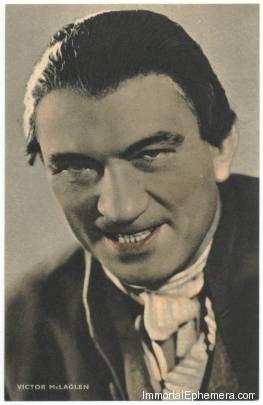 Victor McLaglen circa 1933 Boys Cinema 3.5 X 5.5 Trading Card