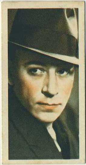 George Raft 1934 Godfrey Phillips Film Stars Tobacco Card