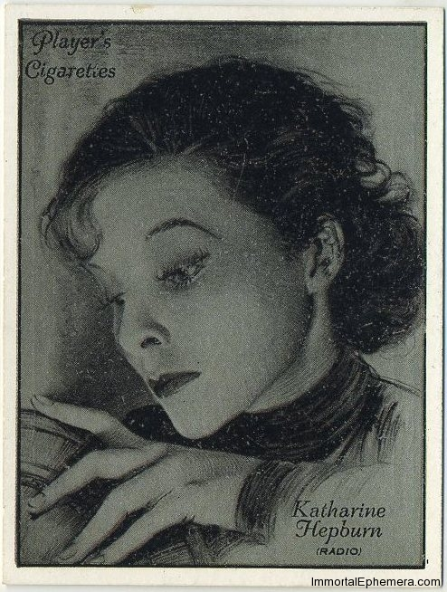 Katharine Hepburn 1934 Players Film Stars Tobacco Card
