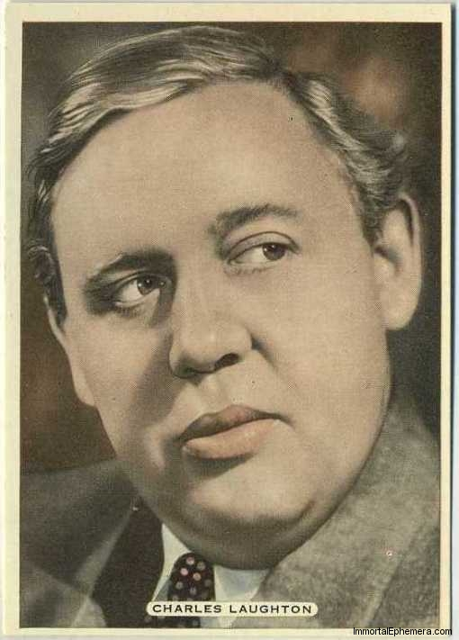 Charles Laughton 1935 Ardath Film Stage and Radio Stars Tobacco Card