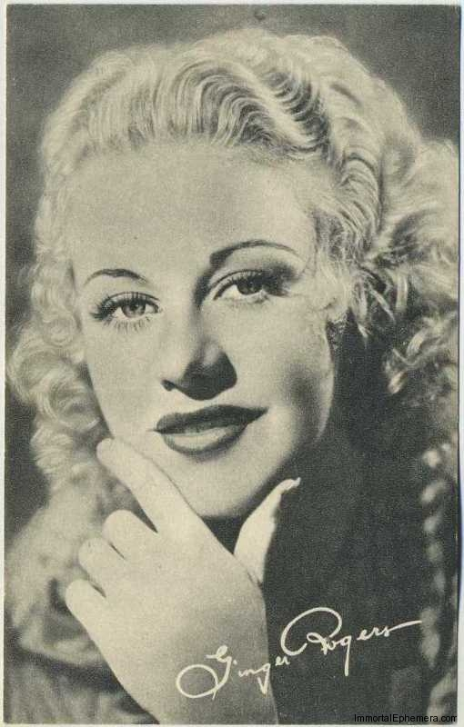 Ginger Rogers circa 1935 Boys Cinema Real Photogravure Portrait Postcard #4