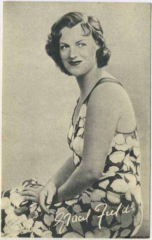 Gracie Fields circa 1935 Boys Cinema Real Photogravure Portrait Postcard #5