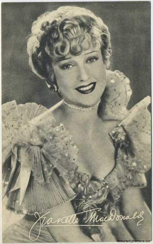 Jeanette MacDonald circa 1935 Boys Cinema Real Photogravure Portrait Postcard #12