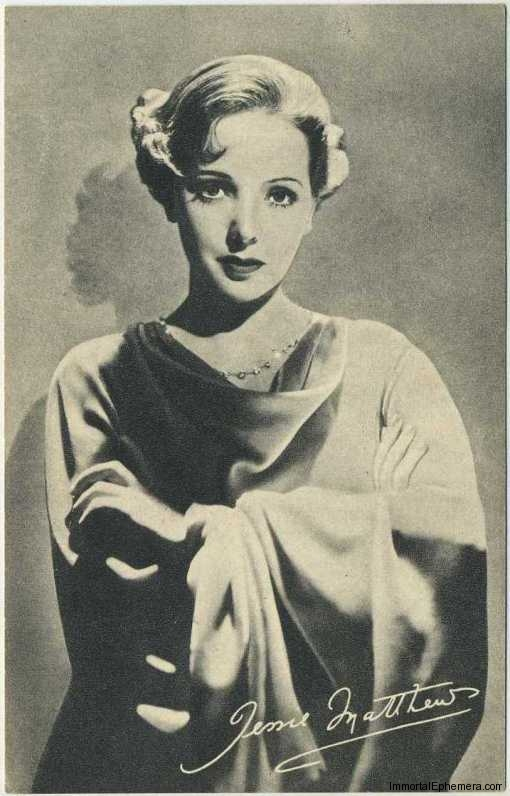 Jessie Matthews circa 1935 Boys Cinema Real Photogravure Portrait Postcard #11