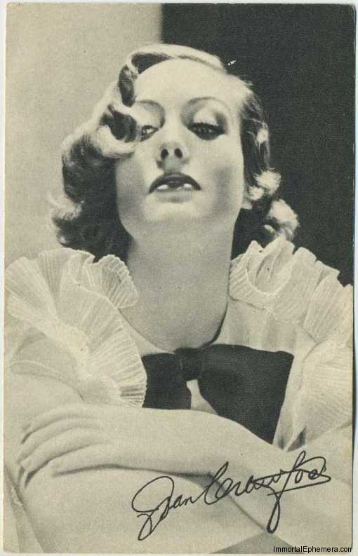 Joan Crawford circa 1935 Boys Cinema Real Photogravure Portrait Postcard #1