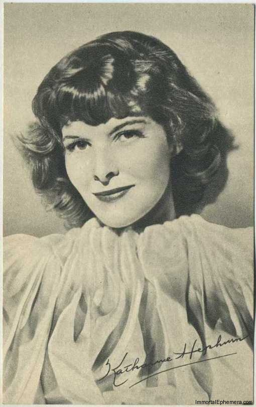 Katharine Hepburn circa 1935 Boys Cinema Real Photogravure Portrait Postcard #6