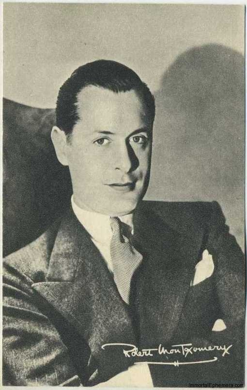 Robert Montgomery circa 1935 Boys Cinema Real Photogravure Portrait Postcard #8