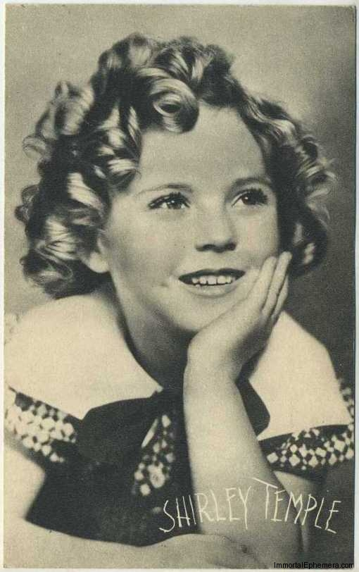 Shirley Temple circa 1935 Boys Cinema Real Photogravure Portrait Postcard #2