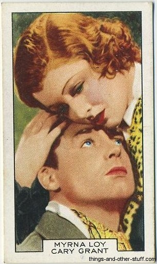 Myrna Loy and Cary Grant 1935 Gallaher Film Partners Tobacco Card