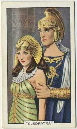 Claudette Colbert and Henry Wilcoxon 1935 Gallaher Shots from Famous Films Tobacco Card
