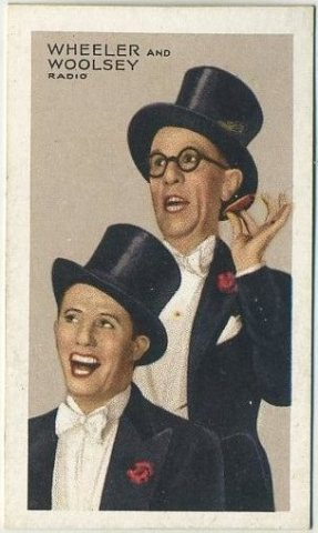 Wheeler and Woolsey 1935 Gallaher Stars of Screen & Stage Tobacco Card