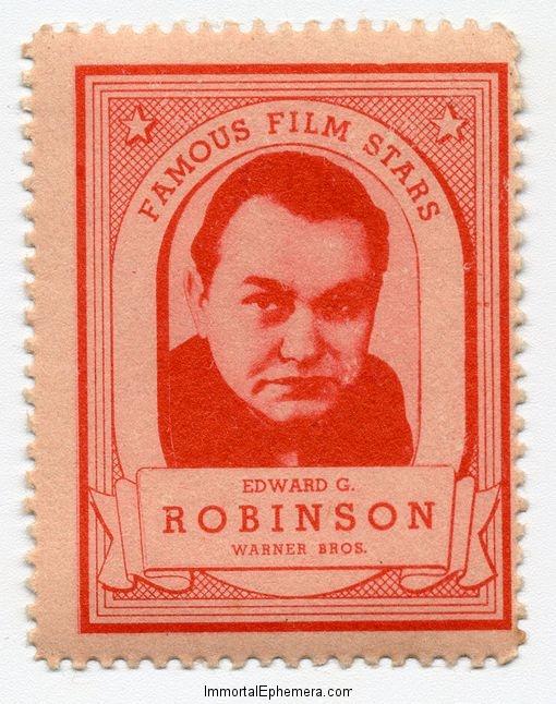 Edward G. Robinson 1935 Lipton
