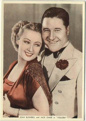 Joan Blondell and Jack Oakie 1936 Ardath From Screen and Stage Tobacco Card