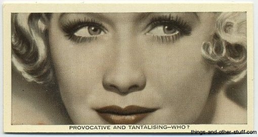 Miriam Hopkins 1936 Ardath Who Is This? Tobacco Card