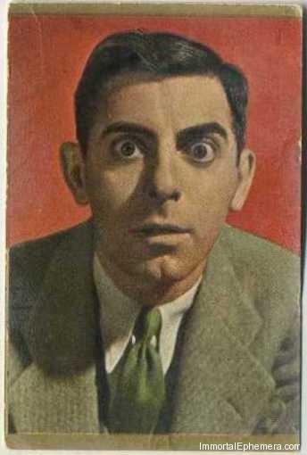 Eddie Cantor circa 1936-1937 Danmarks Film-Series II Trading Card