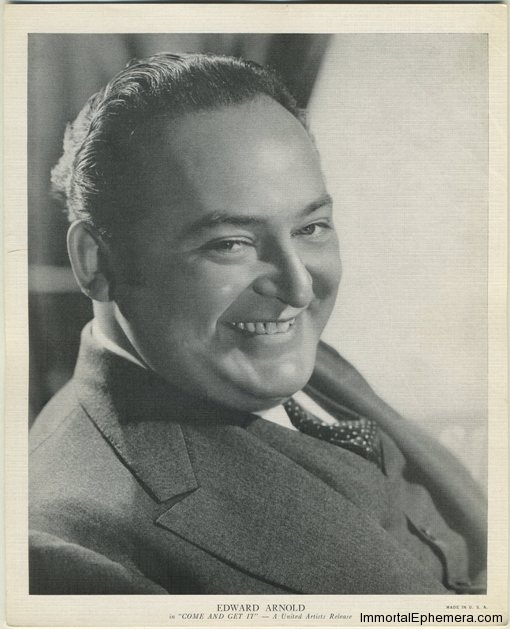 Edward Arnold circa 1936 R95 8x10 Linen Textured Premium Photo