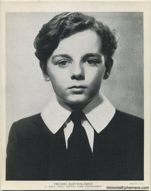 Freddie Bartholomew circa 1936 R95 8x10 Linen Textured Premium Photo
