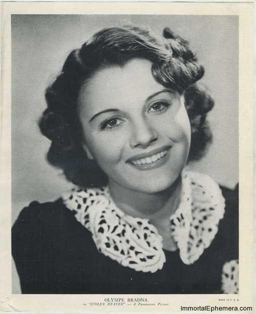 Olympe Bradna circa 1938 R95 8x10 Linen Textured Premium Photo
