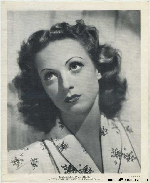 Danielle Darrieux circa 1938 R95 8x10 Linen Textured Premium Photo