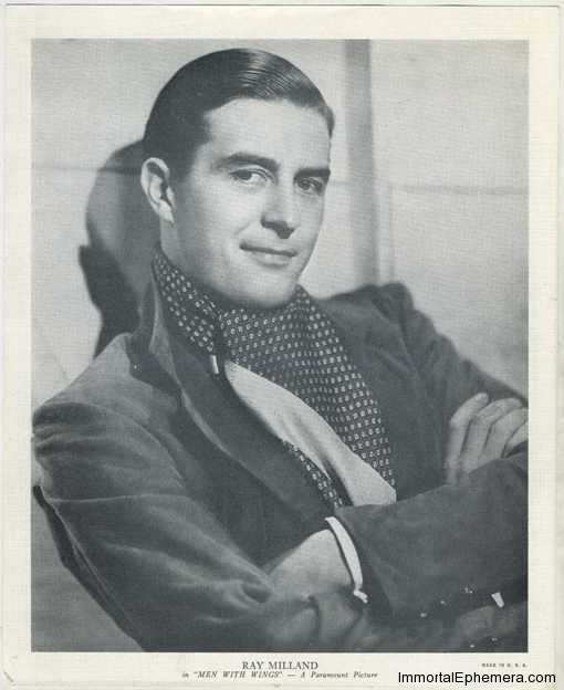 Ray Milland circa 1938 R95 8x10 Linen Textured Premium Photo