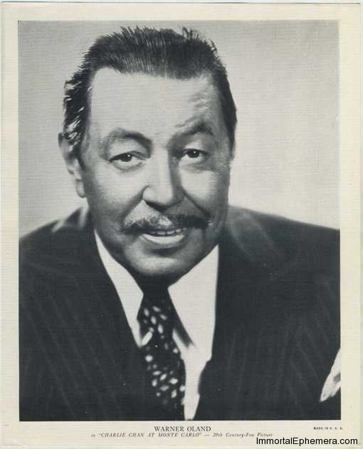 Warner Oland circa 1938 R95 8x10 Linen Textured Premium Photo