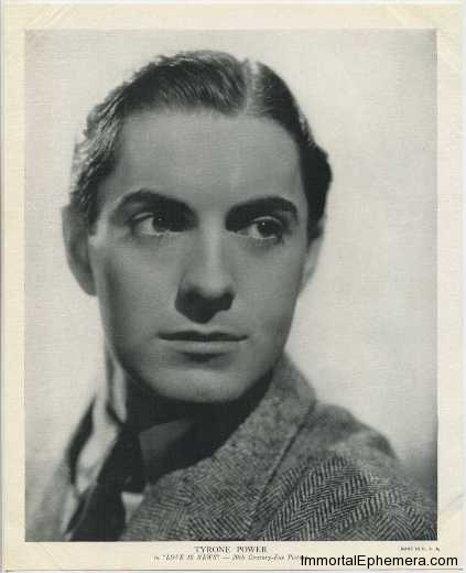 Tyrone Power 1936 R95 8x10 linen textured premium photo
