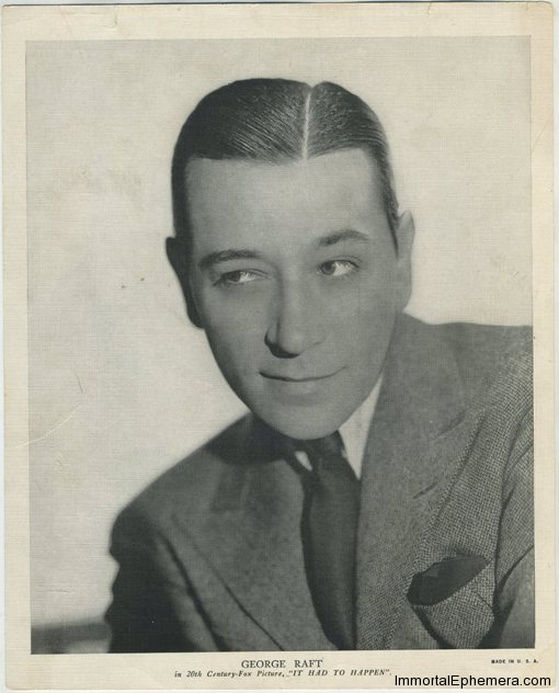 George Raft circa 1936 R95 8x10 Linen Textured Premium Photo