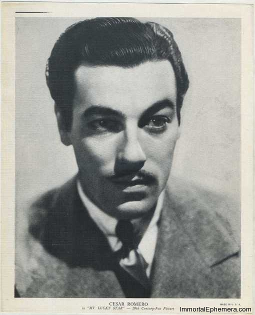 Cesar Romero circa 1938 R95 8x10 Linen Textured Premium Photo