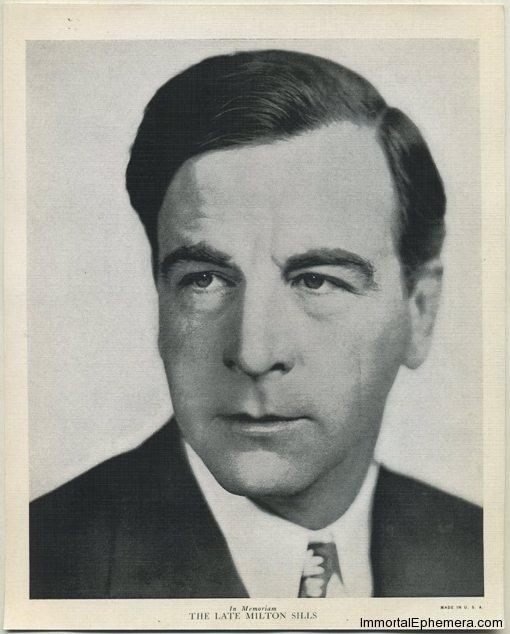 Milton Sills circa 1936 R95 8x10 Linen Textured Premium Photo