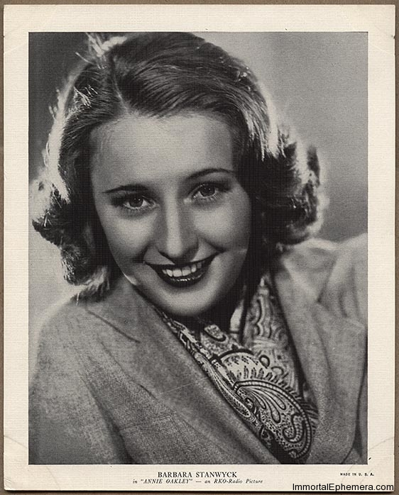 Barbara Stanwyck circa 1936 R95 8x10 Linen Textured Premium Photo