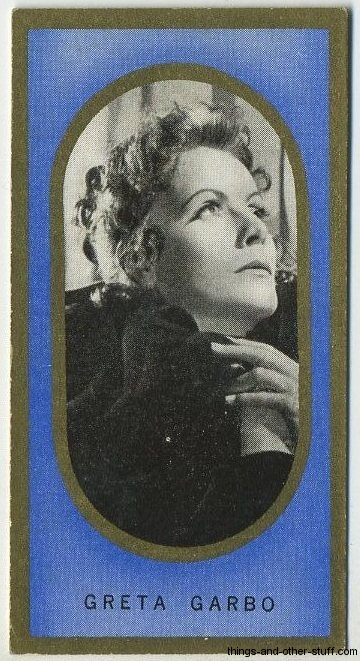 Greta Garbo 1938 Carreras Film Favourites Tobacco Card