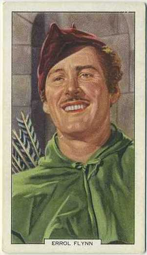 Errol Flynn 1939 Gallaher My Favourite Part Tobacco Card