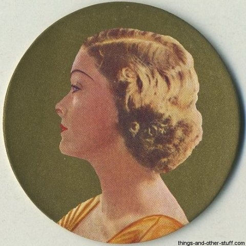Myrna Loy 1939 Rothmans Beauties of the Cinema circular Tobacco Card