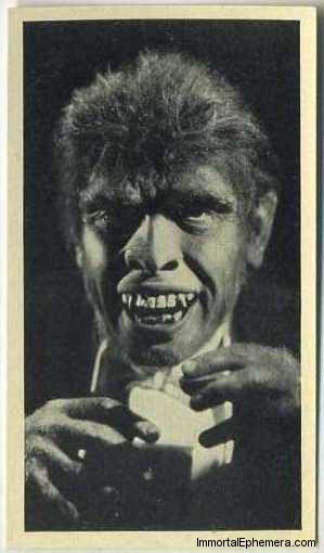 Fredric March as Mr Hyde 1940 Max Cinema Cavalcade Tobacco Card
